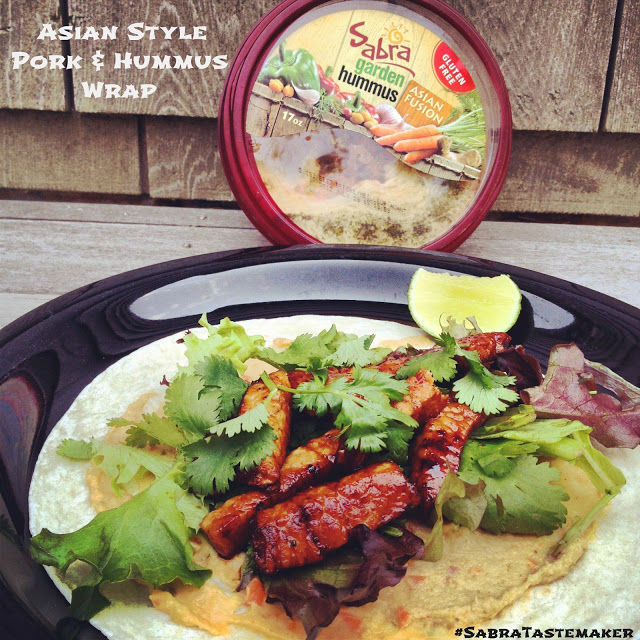 Asian Style Pork & Hummus Wrap