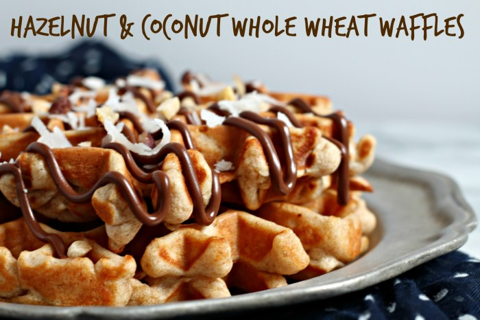 Hazelnut & Coconut Whole Wheat Waffles 2