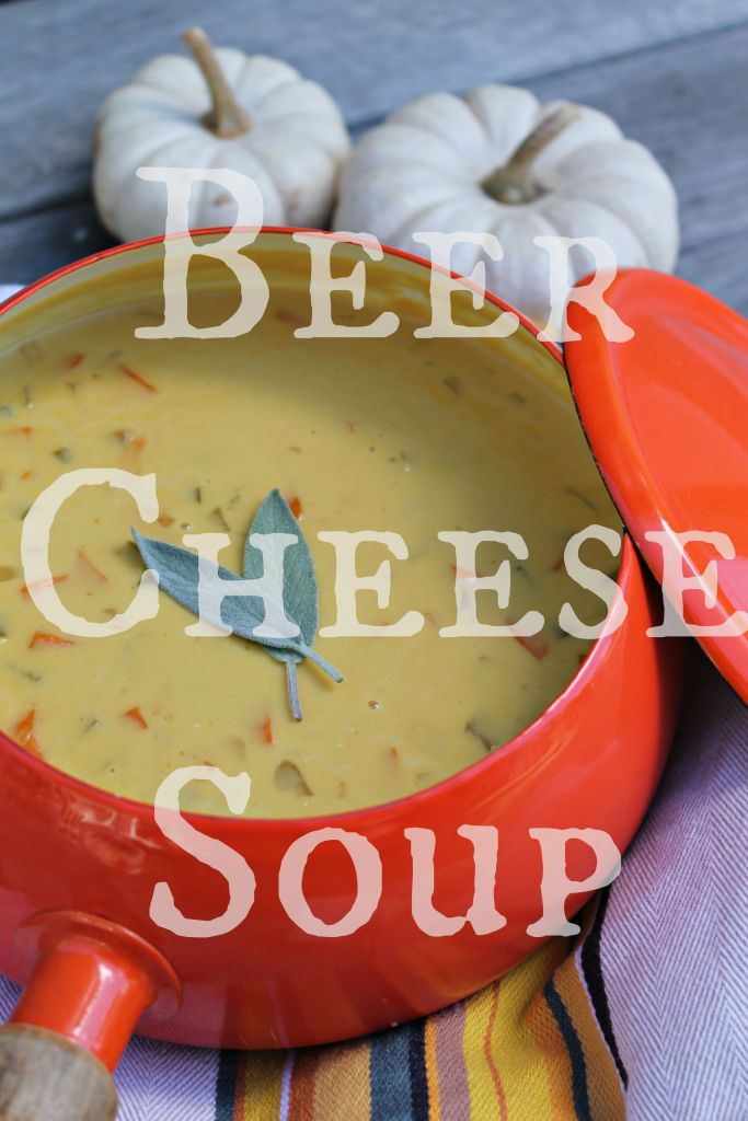 Warm up this season with a bowl of Beer Cheese Soup - Recipe on CookingWithBooks.net