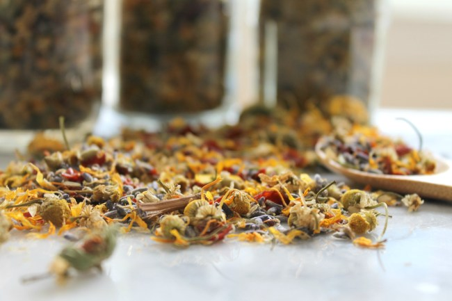 Learn how to make your own loose leaf tea blends at home in this instructional post from Cooking with Books. It's easy and much more affordable than buying them in the store!