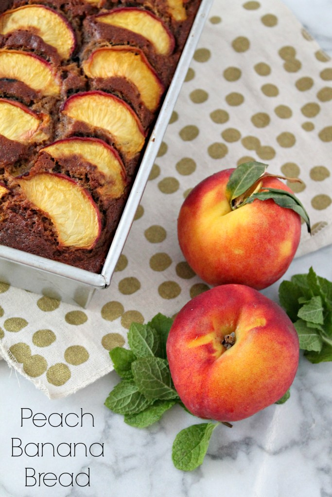 Summer Peach Banana Bread