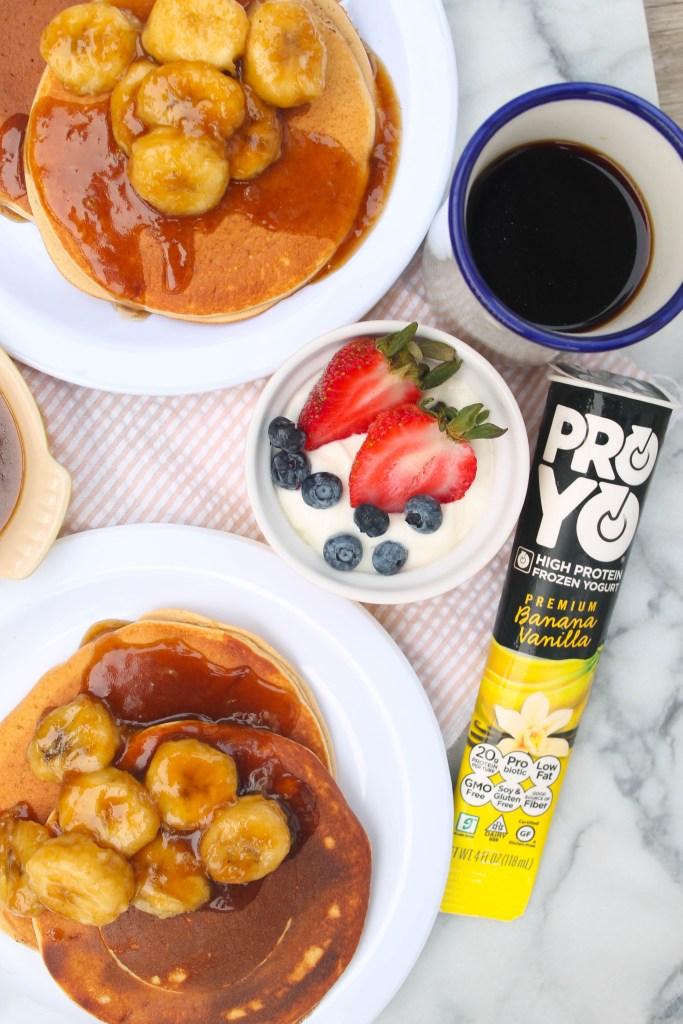 Caramelized Banana Protein Pancakes-5