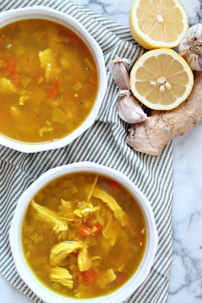 Glowing Turmeric Chicken Soup recipe