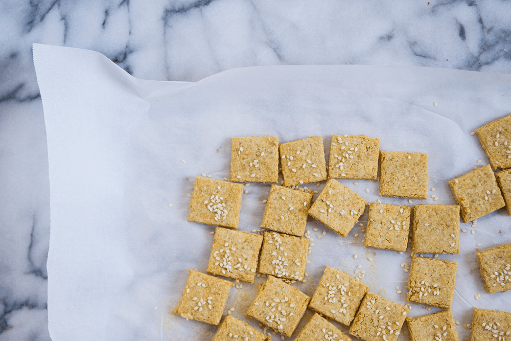 Chickpea Sesame Crackers