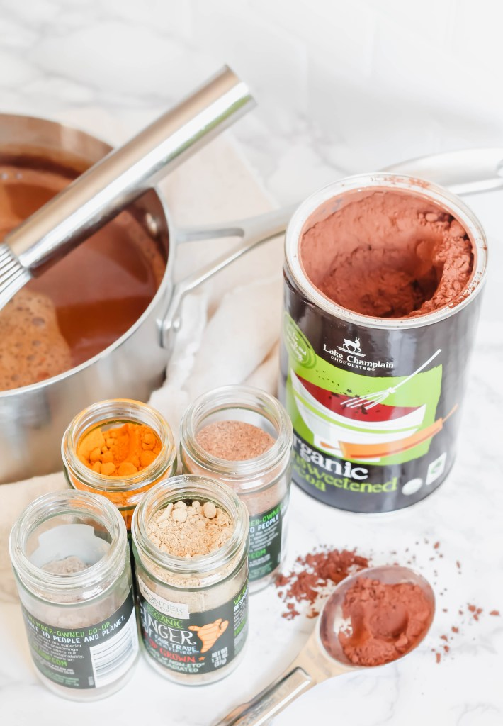 A recipe for Superfood Hot Cocoa, perfect winter drink!