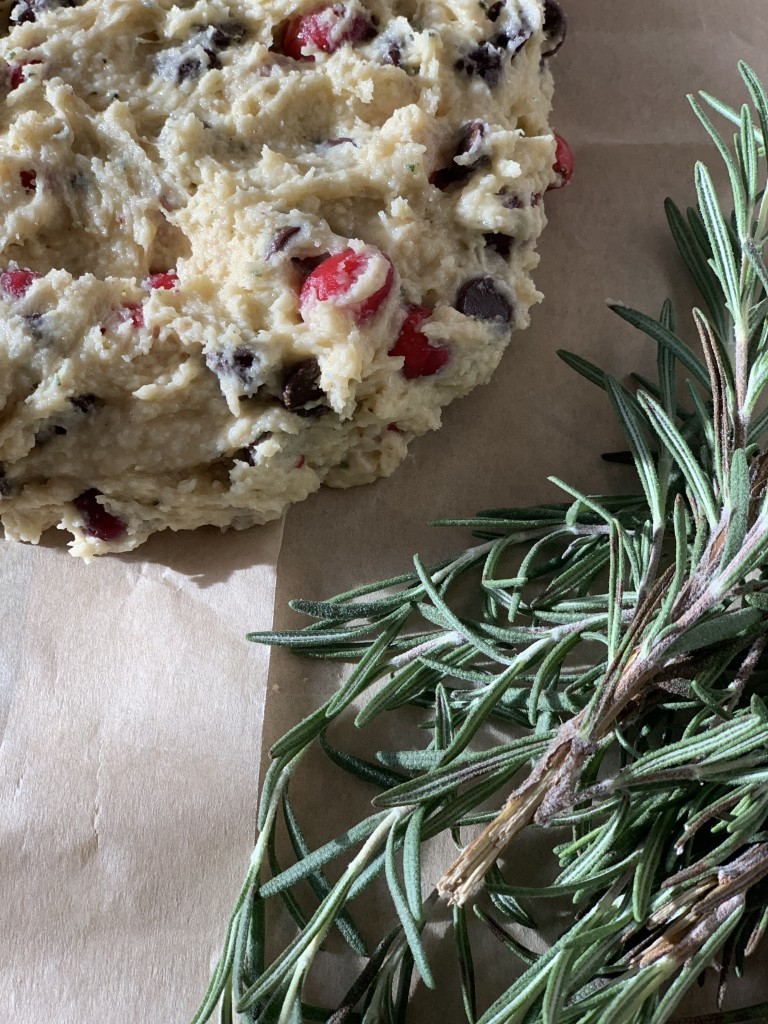 Cranberry Chocolate Rosemary Scones