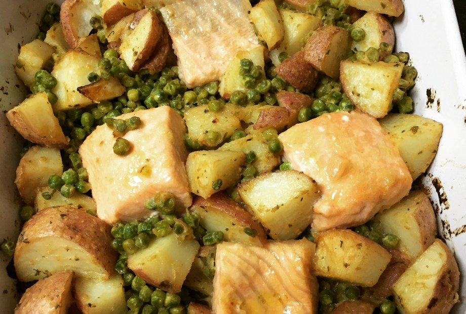 Honey & Mustard Salmon with Vegetables