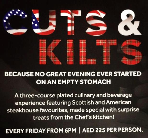 Cuts & Kilts at Scots American Grill