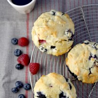 Very berry white chocolate chunk muffins