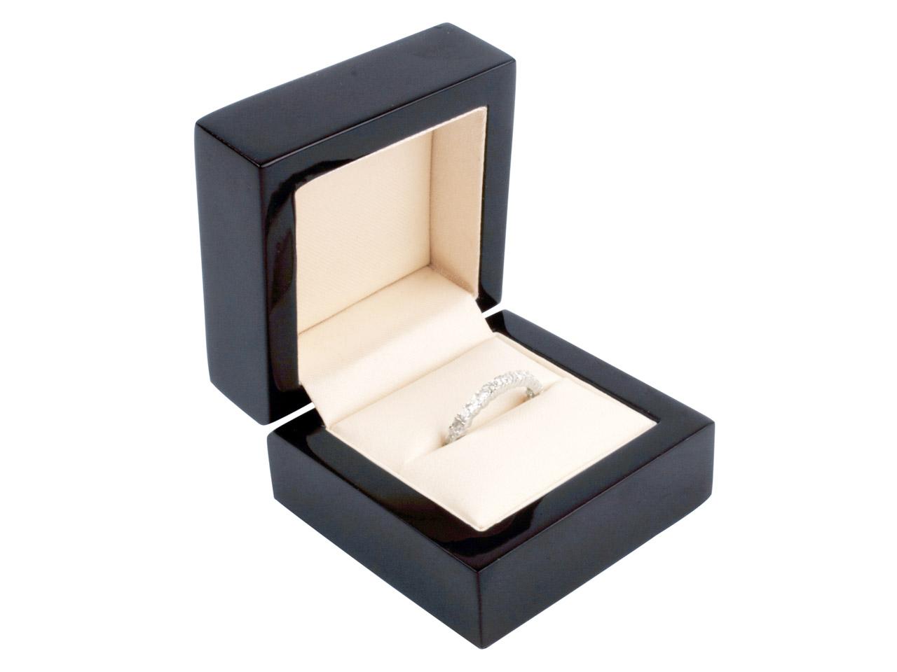 Black Wooden Ring Box Cooksongoldcom