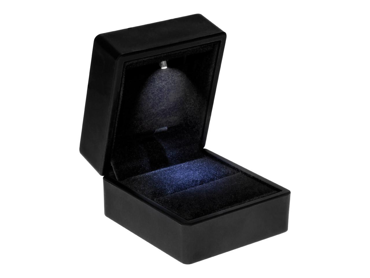 Led Black Jewellery Ring Box Cooksongoldcom
