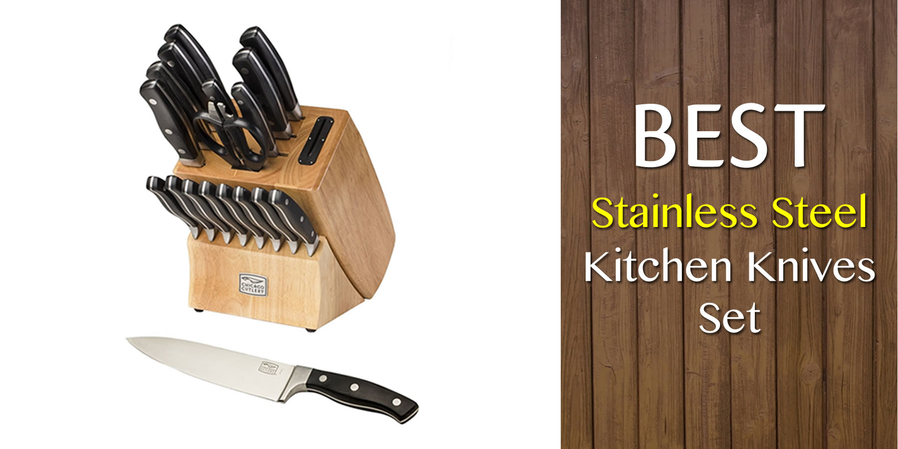 Best Stainless Steel Kitchen Knives Set Reviews and Guide for 2018