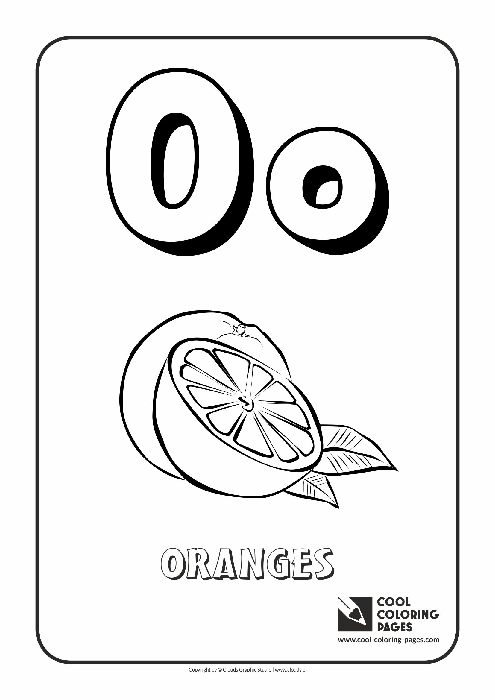 o coloring pages preschool