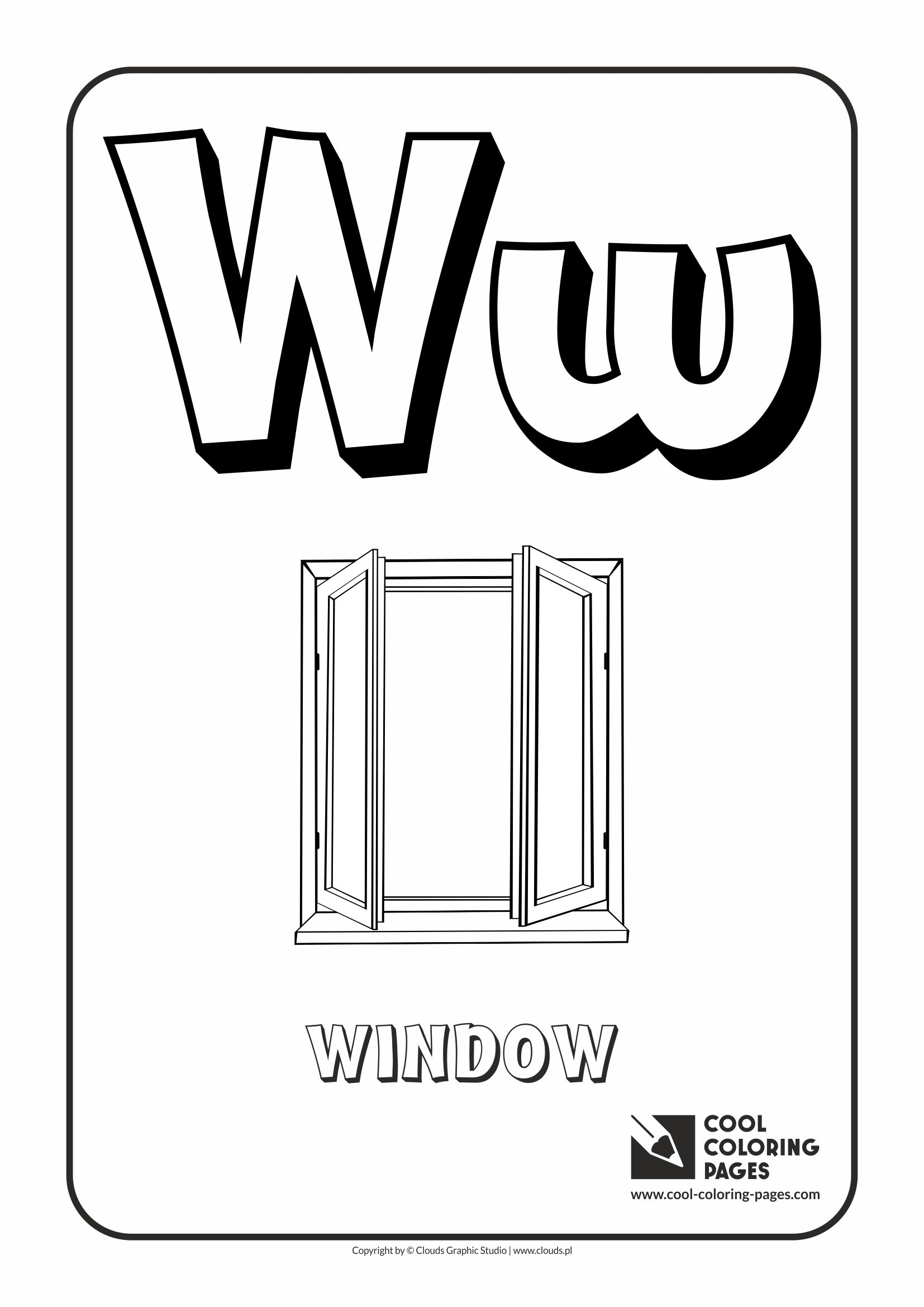 Alphabet w coloring pages -  Alphabet Letter W Coloring Page With Letter W Download