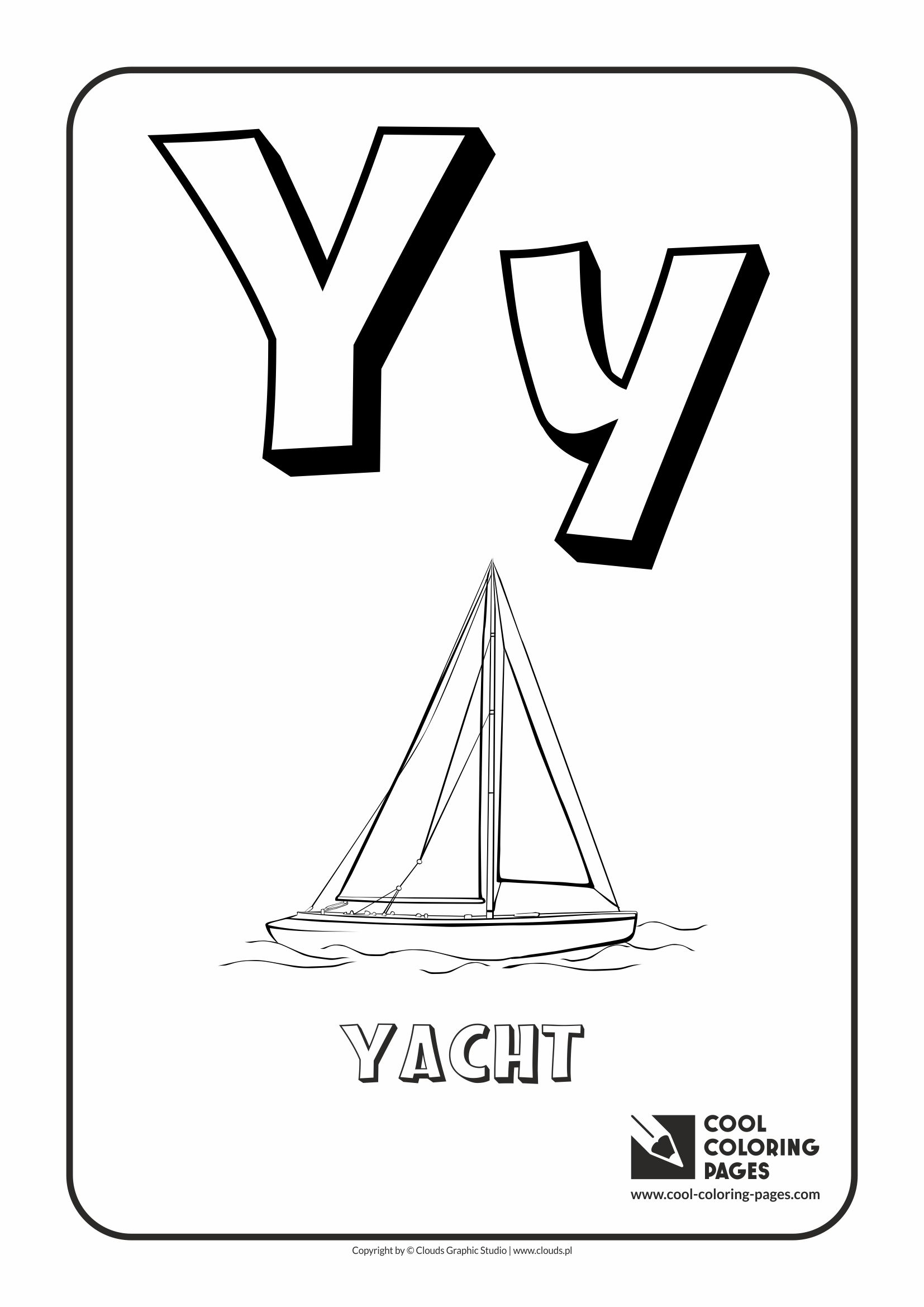 Letter Y Coloring Pages With Lines Letter Best Free