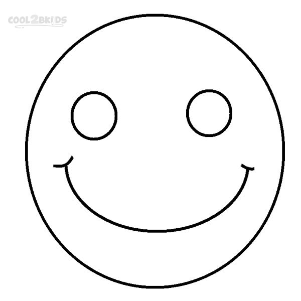 happy face coloring page democraciaejustica