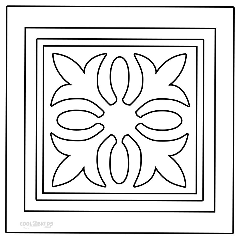 Printable Rangoli Coloring Pages For Kids Cool2bKids
