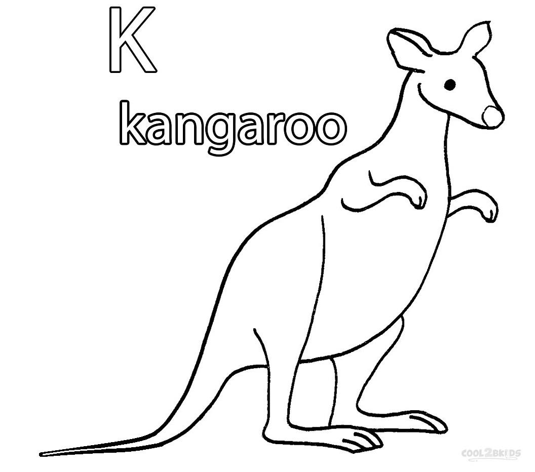Kangaroo coloring pages printable