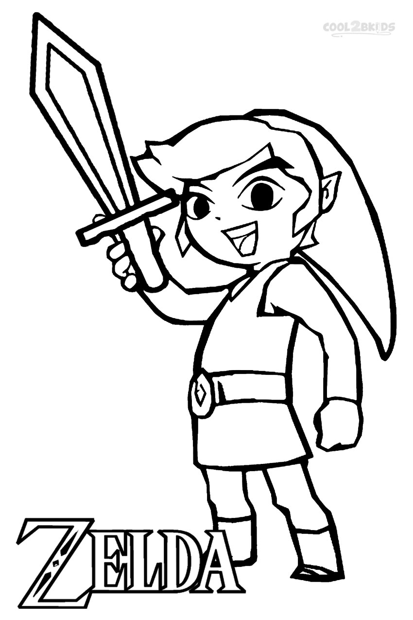 Coloring pages starfish intermediate - The Legend Of Zelda Coloring Pages