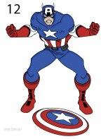 As By Step How To Draw Captain America