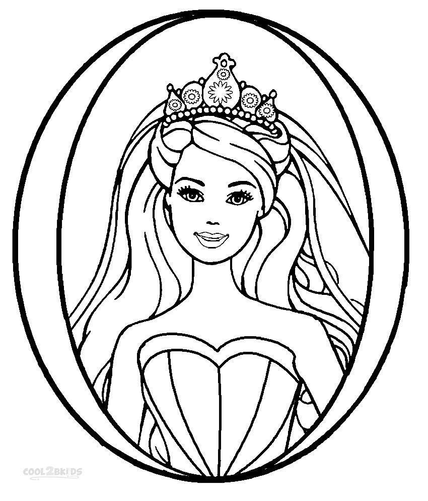 Printable coloring pages barbie -  Barbie Princess Coloring Pages Free Printable Download