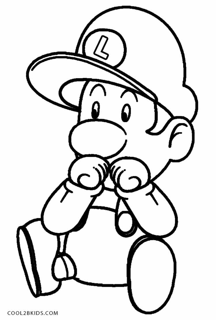 luigi mansion coloring pages page 1