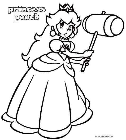 Printable Princess Peach Coloring Pages For Kids Cool2bKids - mario coloring pages