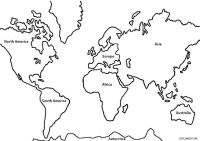 World Continents Map Coloring Page Coloring Pages