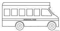 Printable School Bus Coloring Page For Kids | Cool2bKids