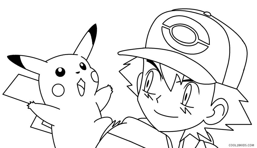 Free pokemon pikachu coloring pages saveenlarge