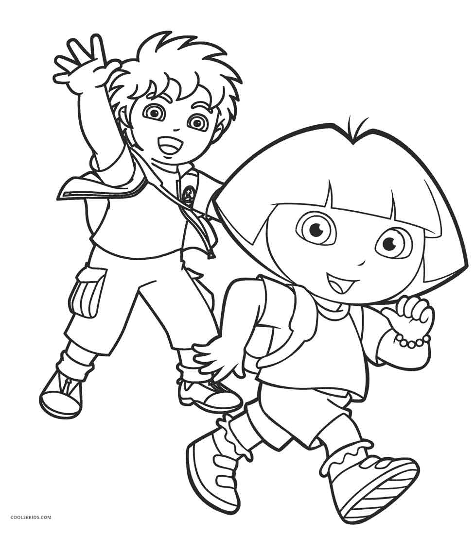 Dora Diego Coloring Pages - Democraciaejustica