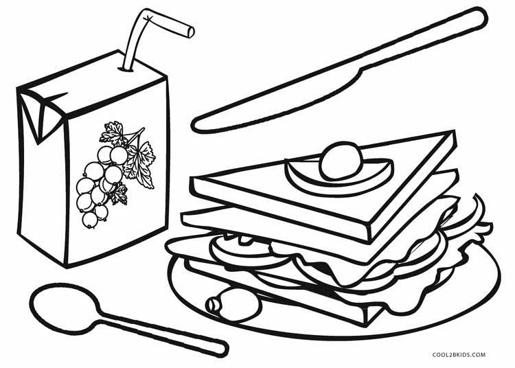 Breakfast Coloring Page - Eskayalitim