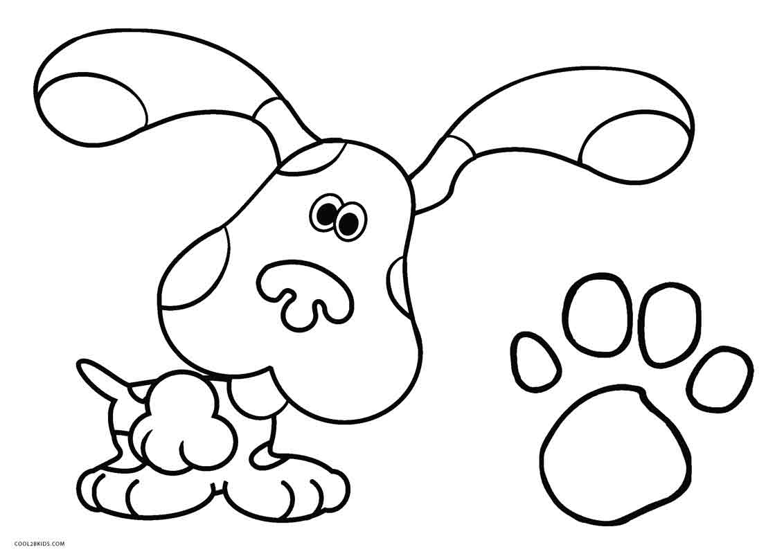 Blue Clues Coloring Pages - Eskayalitim