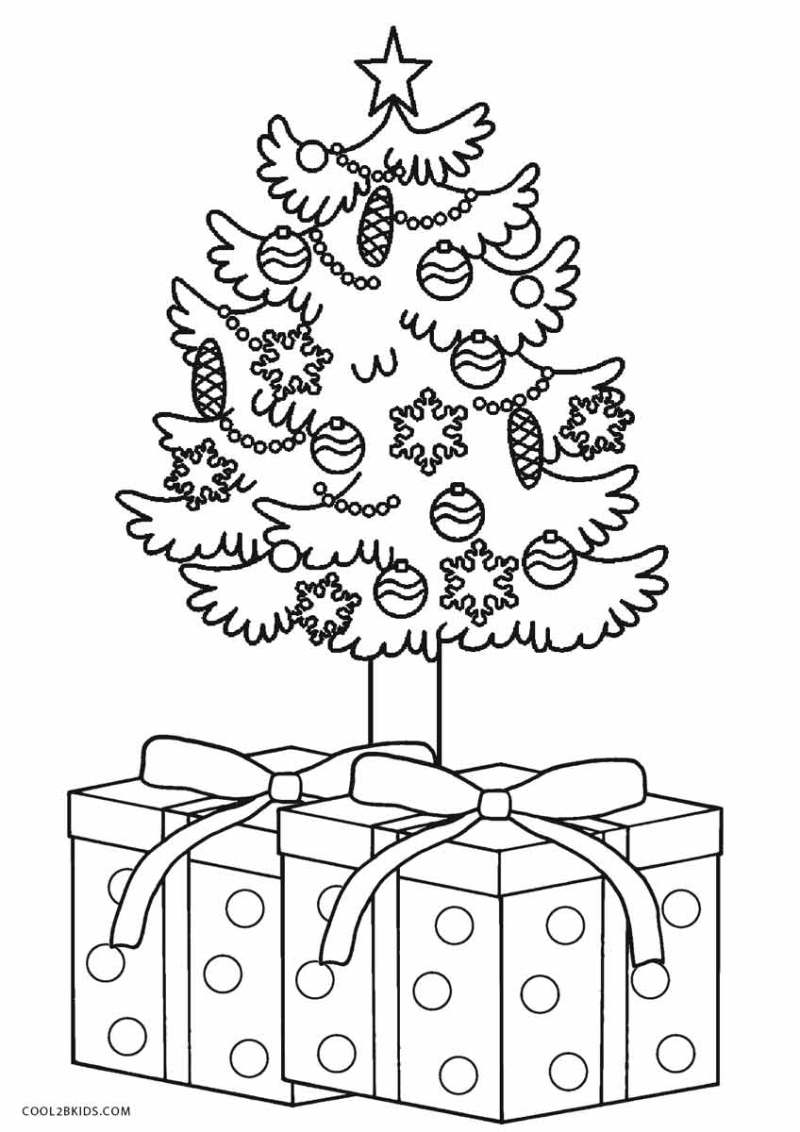 Large Of Christmas Tree Coloring Page