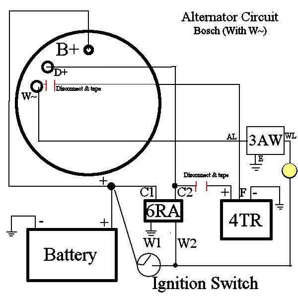 4 wire alternator schematic