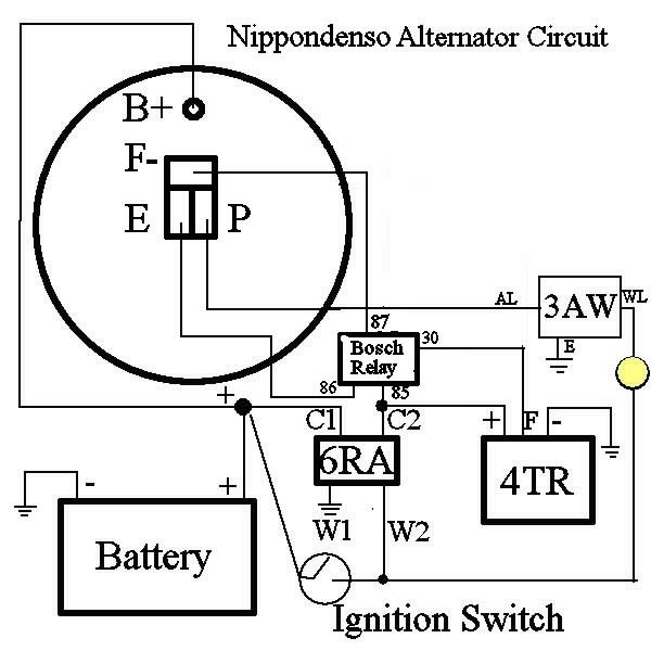 denzo alternator wiring diagram 4 wire