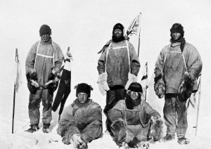 Robert Falcon Scott's team marched when the weather was good and paused when it wasn't as they tried to reach the South Pole.