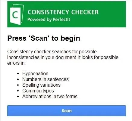 Google Drive Add-On consistency Checker
