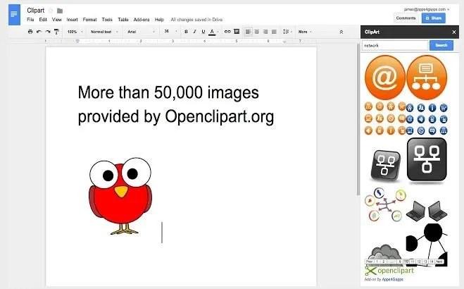 Google Drive Open Clip Art.