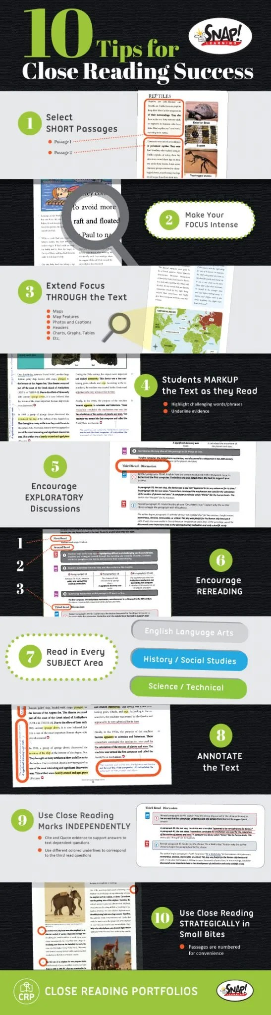 close reading tips for close reading activities infographic