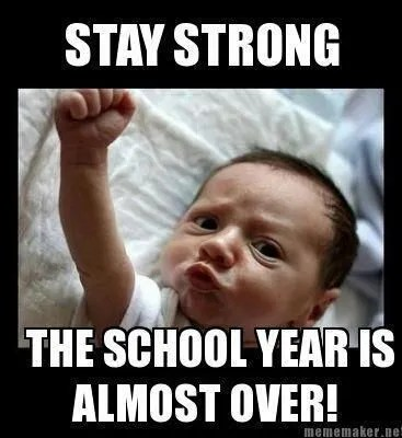 The school year doesn't wind down! It crashes.  Source: http://www.pinterest.com/happyteacher/end-of-the-school-year/