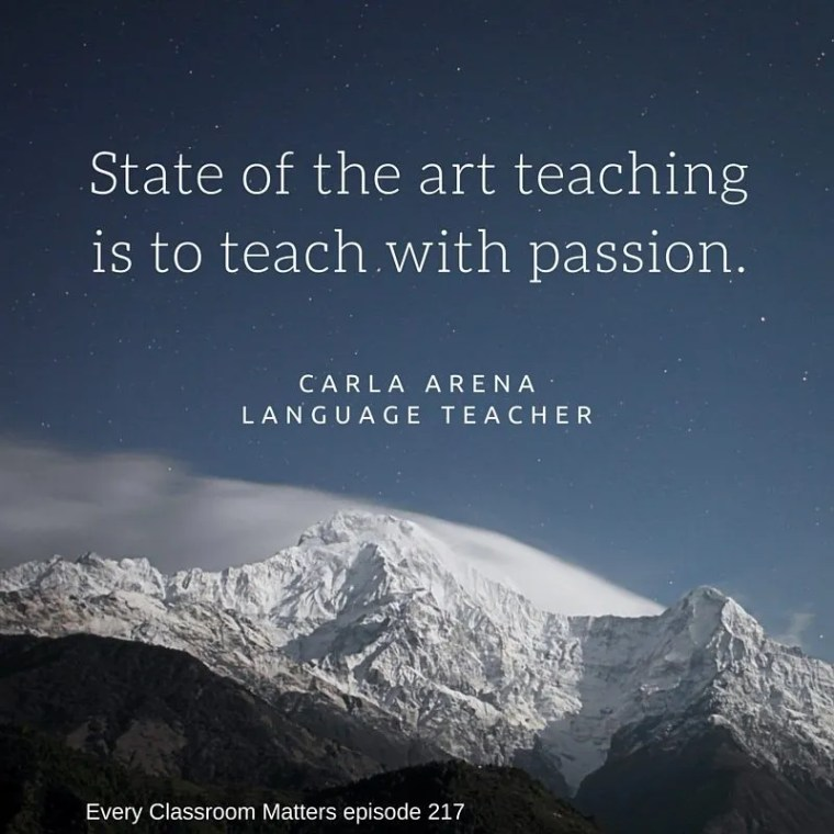 State of the art teaching is to teach with passion.