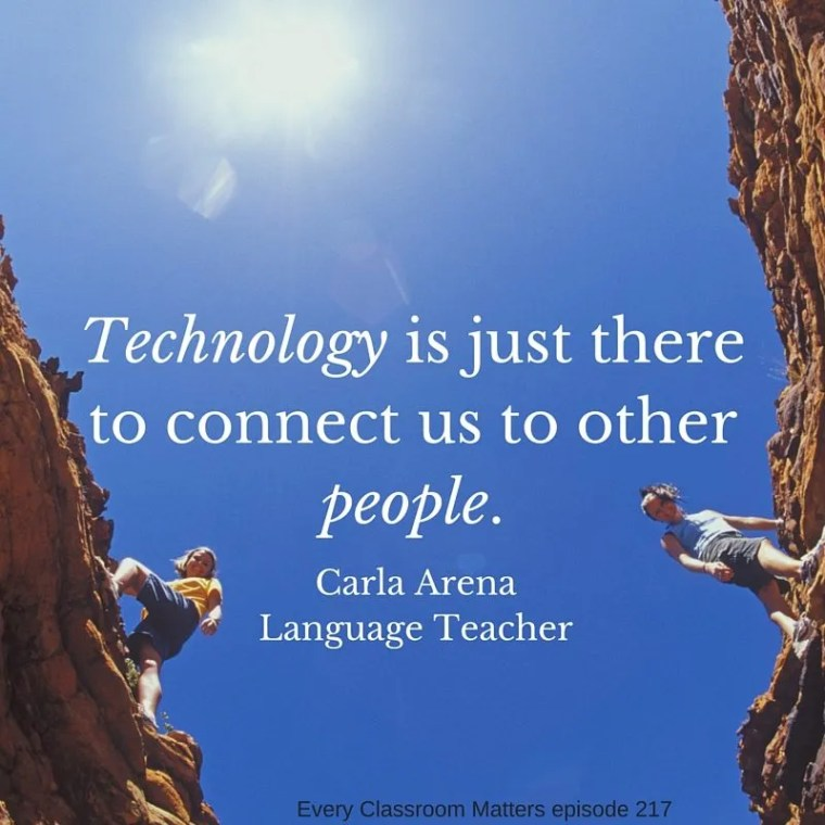 Technology is just there to connect us to other people.