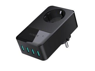 aukey-power-hub-steckdose-usb-ladegerät-quickcharge