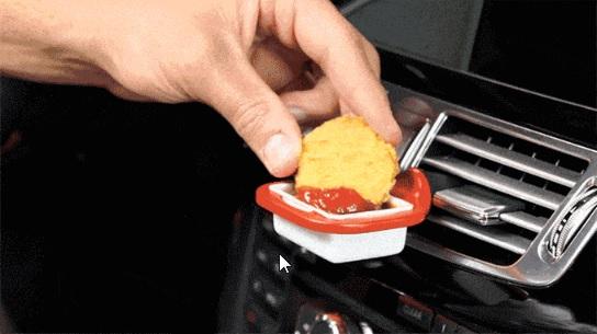 DipClip - Diphalter für den Fastfood-Genuss im Auto