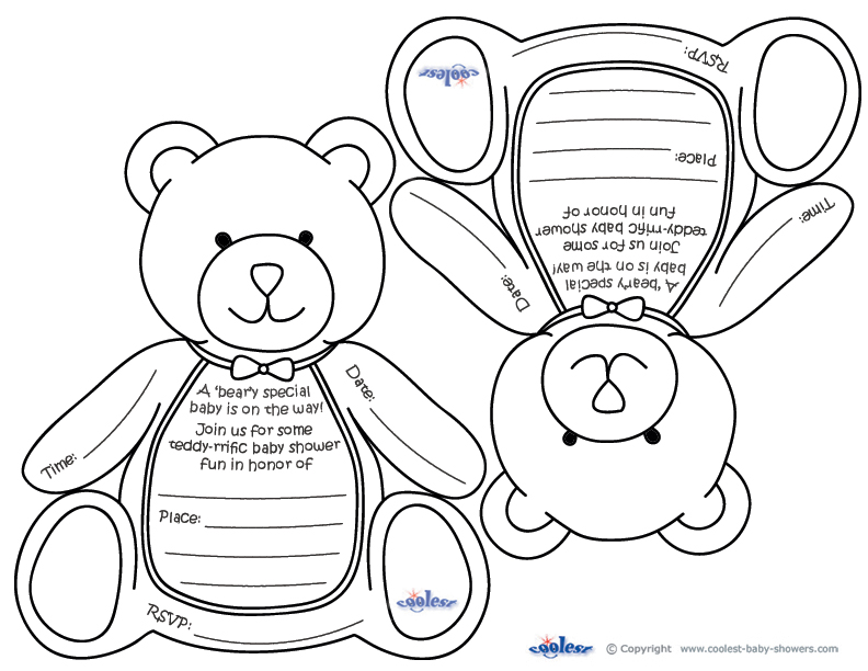 Teddy Bear Baby Shower - baby shower templates for word