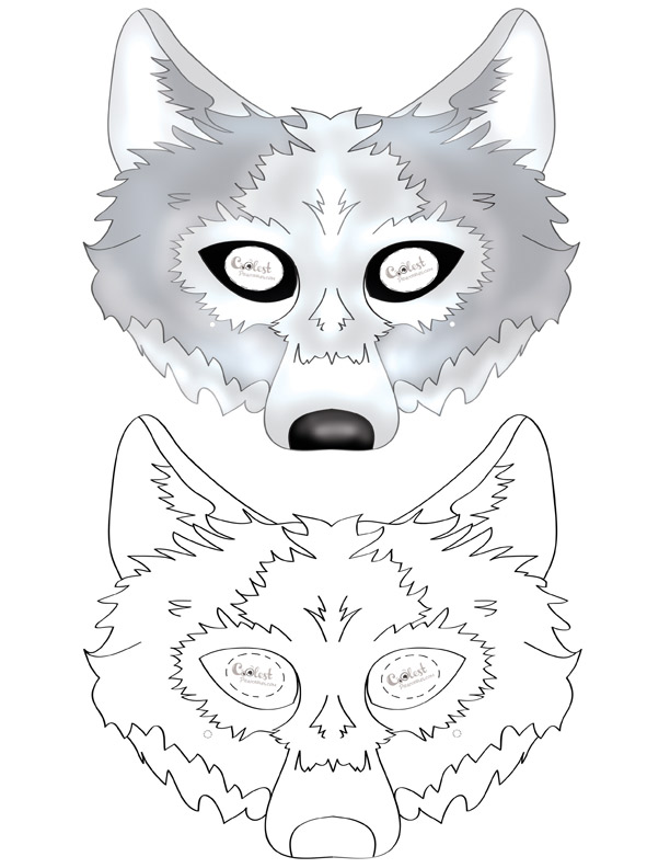 Printable Wolf Mask