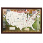 Personalized Baseball Ballpark Map