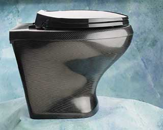 Carbon fibre toilet