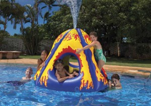Erupting Volcano Pool Float